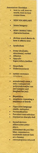 Annotation Checklist front
