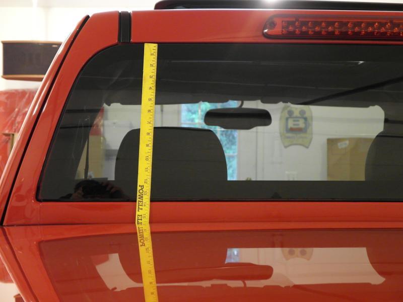 Rear Window Dimensions  Chevrolet Colorado  GMC Canyon Forum