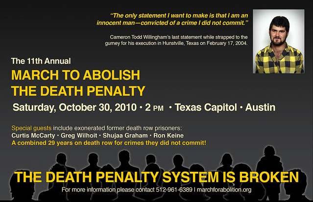 Postcard for 2010 March to Abolish the Death Penalty