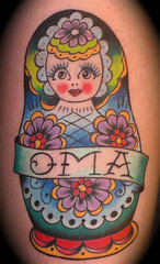 (Dave Kruseman Tattoo) Tags: tattoo oma nestingdoll memorialtattoo traditionaltattoo matryoshkadoll babushkadoll davekrusemantattoo