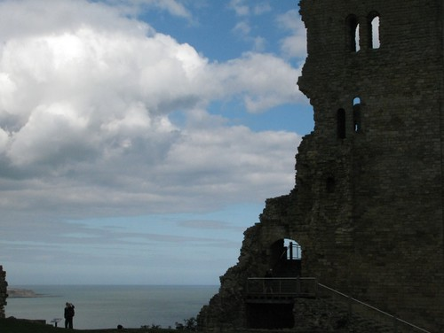 Dramatic view of Scarborough Castle