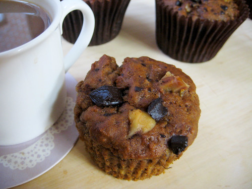 vegan banana nut muffins