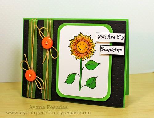Sunflower Sketch Card (2)