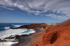 El Golfo, Lanzarote (Spain), HDR (marcp_dmoz) Tags: ocean red sea espaa black rot clouds photoshop lava mar spain rojo nikon meer waves dorf village map negro pueblo wolken lanzarote atlantic nubes nikkor olas canaryislands tone schwarz hdr spanien vulcano oceano islascanarias atlantico wellen atlantik volcan vulkan yaiza elgolfo kanarischeinseln ozean photomatix tonemapped tonemapping 1735mmf28 d700
