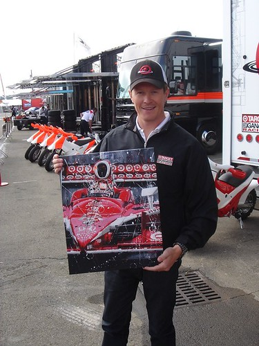 Scott Dixon with Art