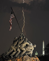 DC Lightning Strike (Warriorwriter) Tags: storm monument weather night arlington virginia washingtondc nikon memorial flag military flash congress nationalmall electricity strike thunderstorm marines lightning nikkor washingtonmonument marinecorps iwojima semperfi capitoldome marinecorpswarmemorial oohrah mtsuribachi savedbydeletemeuncensored leatherneck marinecorpsmemorial nikond3x iceboxcool unanicool nikonafs70200mmf28vrii isaacdpacheco2010allrightsreserved