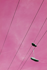 Shoes Hanging From Telephone Wire (grahambrown1965) Tags: shoe wire shoes lace telephone cable trainers limited trainer laces telephonewire plimsol sneekers telephonecable sneeker plimsols justpentax limitedlens smcpda35mmf28 pentaxart