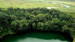 Manenguba crater lake (Bernard l Hermite) Tags: africa trees lake reflection green nature forest landscape rainforest greenlake crater swamp tropical cameroon cameroun greenwater greenreflection lacmale