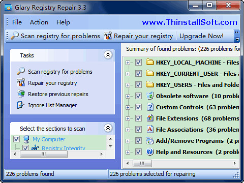 Glary Registry Repair Portable