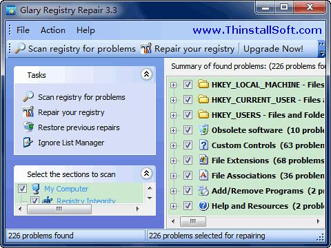 Glary Registry Repair Portable