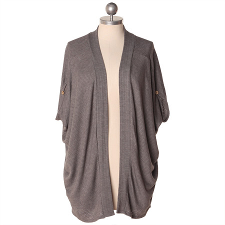 FF_lazy sunday gray slub cardigan_shop ruche