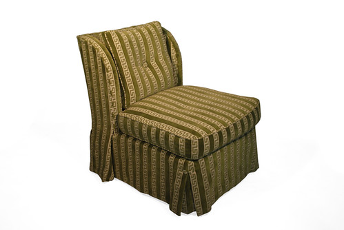 Revision Home Chicago Green Greek Key Chair in Velvet