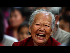 Cmon' Get Happy (Michael Steverson) Tags: china park old woman canon opera chinadigitaltimes 5d guangxi markii retiree eldery ef70200mmf28lis