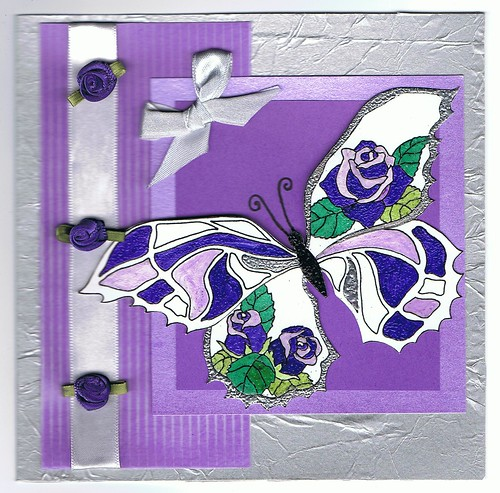 Purple Butterfly Card