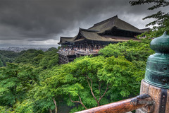Storm hitting the Kiyomizu Temple (nimarb) Tags: wood old sky storm rain japan forest kara temple japanese wooden kyoto no buddha dramatic himmel style buddhism   kyouto heavy blume kansai holz wald  kiyomizu kiyomizudera hdr tempel 2010 tera sturm dera higashiyama hlzern japanisch kyto butai  dramatisch higashiyamaku  nimar  nimarb  tobioriru kiyomizunobutaikaratobioriru