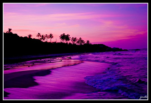 purple sunset beaches. Purple Sunset, Cañaveral Beach