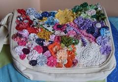 Crazypatch (rosaestilosa) Tags: pano fuxico patchwork reciclagem croche retalho crazypatch customização recicagem