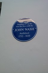 Photo of John Nash blue plaque