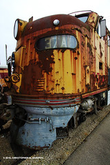 MILW 37A Rusting Away (Chris Skrundz) Tags: road railroad chris chicago museum train photography illinois diesel union railway milwaukee locomotive e9 skrundz