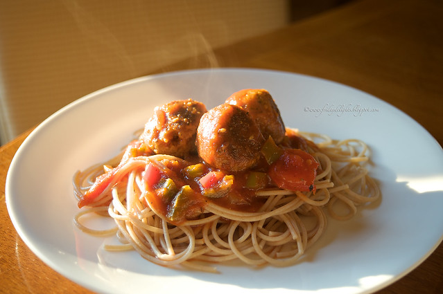 tempeh meatballs & Spaghetti