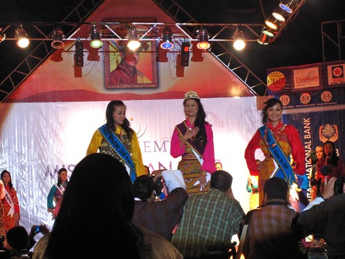 Miss Bhutan and 2 runners-up