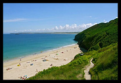 "Carbis bay (kimlawton) Tags: sea beach cornwall britishisles "" carbisbay britishseascapes ""beautifulnature"