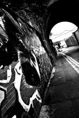 Do Not Mistake Art For Vandalism (Mozyb) Tags: bridge art wall graffiti wire birmingham factory arch talent illegal vandalism barbedwire law custard barbed digbeth custardfactory nikonflickraward