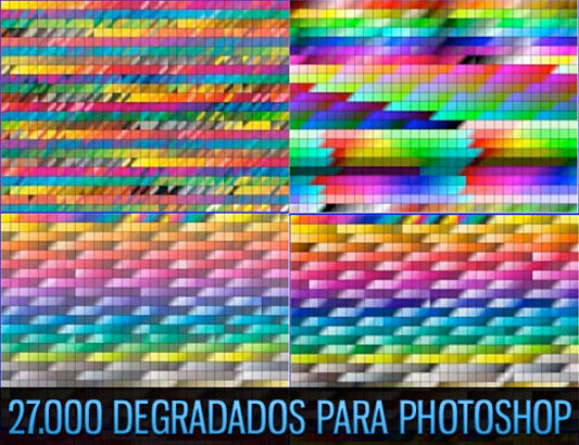 27.000 gradientes para Adobe Photoshop