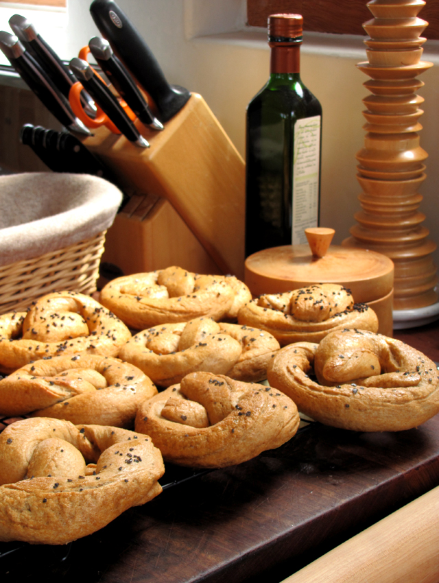Whole wheat pretzels