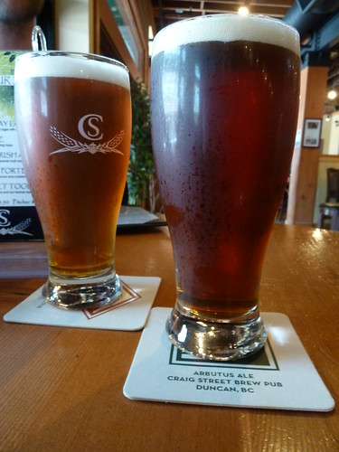 Craig St Arbutus Pale Ale and Shawnigan Irish Ale