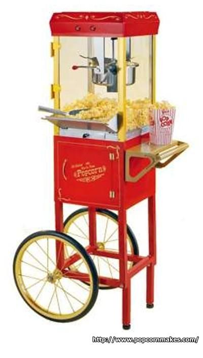 old fashion popcorn machine