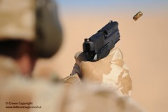 Soldier Fires Sig Sauer Pistol in Jordan (Defence Images) Tags: uk training army gun desert exercise military free case jordan equipment weapon pistol british bullet express handgun defense defence ammunition firing 9mm cartridge firearm fre sidearm sigsauer smallarms ejecting