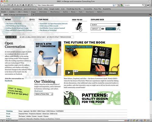 Screen shot: IDEO.com