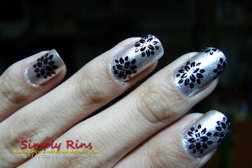 Nail Art Silver Lining 02