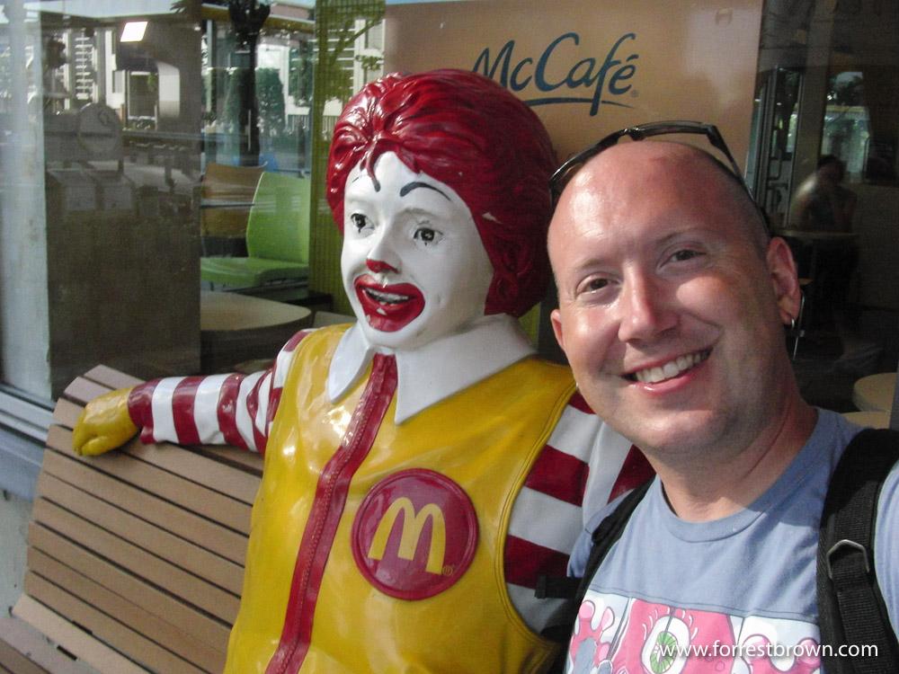 Forrest Brown, McDonald's, Restaurant, Tokyo, Japan, Ronald McDonald