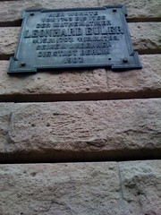 Photo of Leonhard Euler black plaque