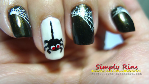 nail art halloween spiders 05