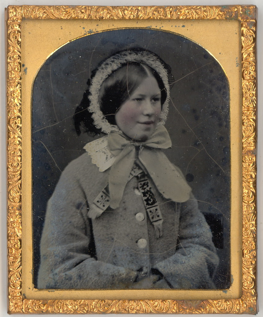 English Victorian Girl in Bonnet