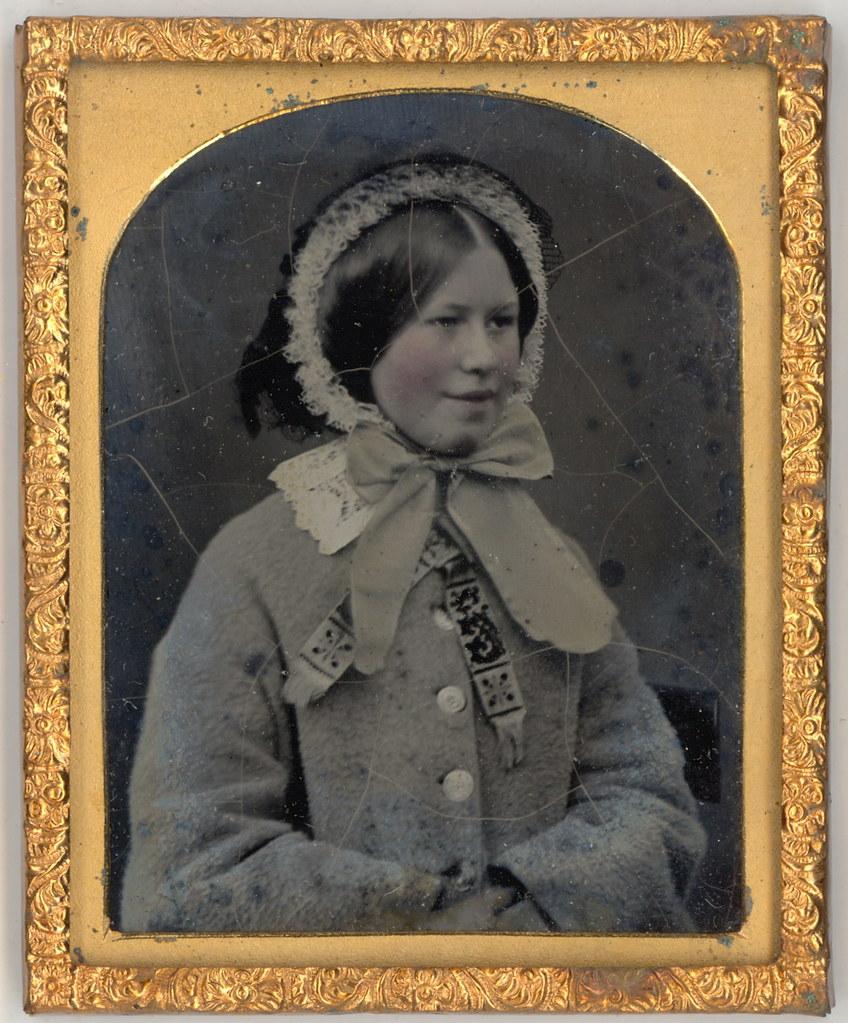 English Victorian Girl in Bonnet