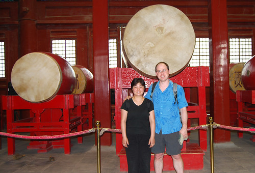 w10 - Chunlin and Mark at the Drum Tower