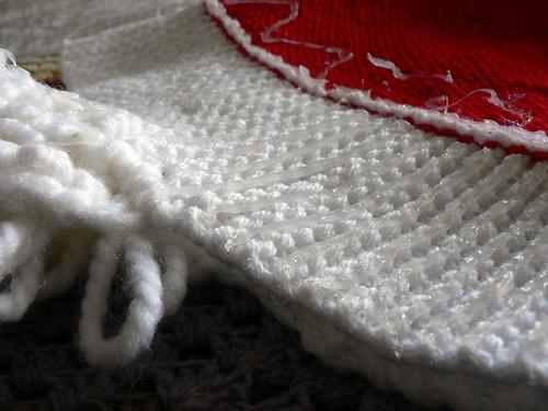 Making Santa helmet non slip