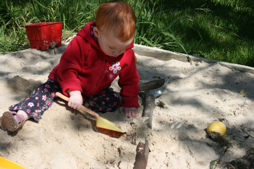 first time in the sand-pit