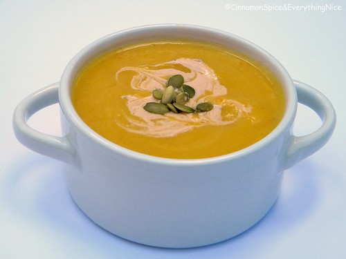 Butternut Chayote Squash Soup with Chipotle Cream