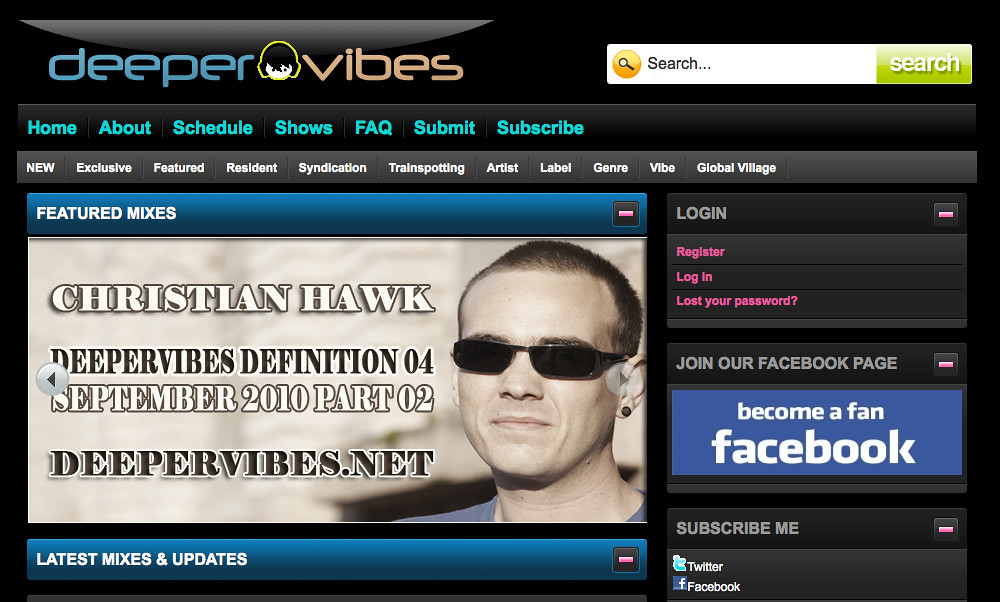 Christian Hawk Interview and Mix for DeeperVibes.net