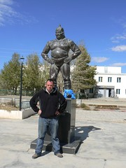 Dalanzadgad wrestlers (jayselley) Tags: asia september mongolia exodus 2010 mongol mongolianadventure