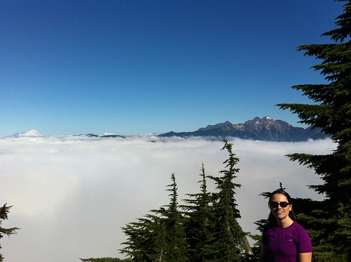 Emily above the clouds