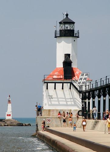 Michigan City Pier Lighthouse Indiana-4