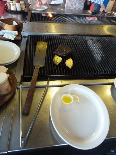 Cooking our own steak at Shore Bird