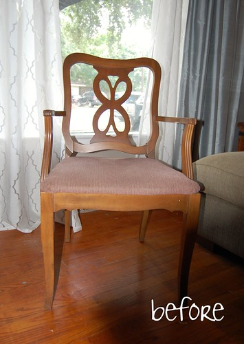 vintage chair - before