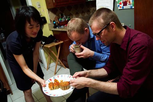 Feeding the weegies mooncakes!